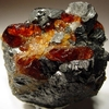 Red Chondrodite And Black Magnetite From The Old Tilly Foster Mi