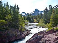 Redrock Falls - Glacier - Montana - USA