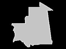 Regional Map Of Mauritania