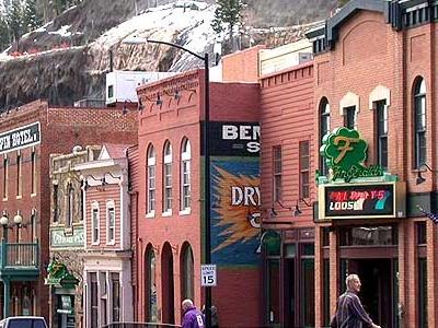 Restored Historic Buildings In Downtown Black Hawk