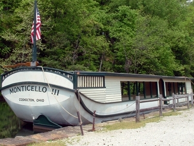 Restored Canal Boat  Ohio And  Erie  Canal