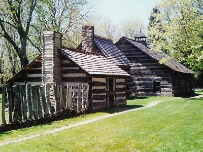 Restored Cottages Of The  Moravian  Indians In  Schoenbrunn