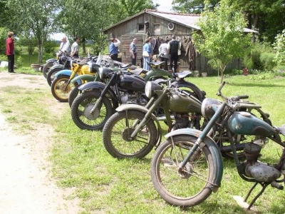 Retro Motorcycles And Antique Uniforms