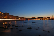 A Nighttime View Of Rhodes