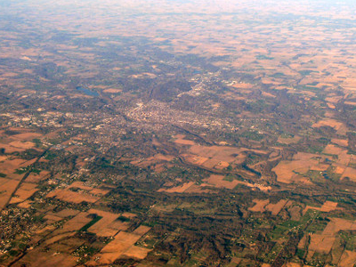 Richmond Lies On The Flat Lands Of Eastern Indiana