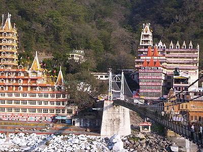 Rishikesh View Across Bridge
