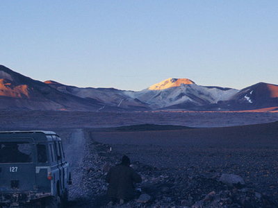 Road To Mina Julia On Cerro Escorial