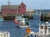 Rockport Inner Harbour Showing Lobster Fleet And Motif