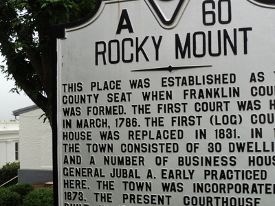 Rocky  Mount  Virginia State Historical Marker