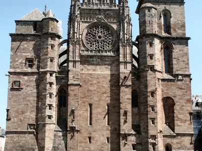Western Facade Of Rodez Cathedral