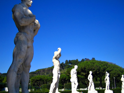 Statues Of Athletes In The Stadio Dei Marmi