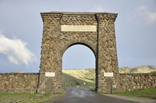 Roosevelt Arch - Yellowstone - Wyoming - USA