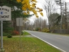 Route 71 Westbound Entering Egremont