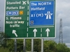 Sign At Junction Of The A1(M) At South Mimms