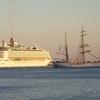 Royal Caribbean Cruise Ship And The Eagle