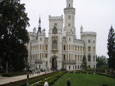 Royal Castle In Hluboka And Vltavou