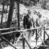 Herbert And Lou Henry Hoover On A Footbridge