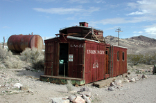 A Caboose Formerly Used As A Gas Station