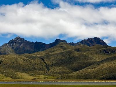 Ruminahui From Limpiopungo Lagoon