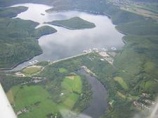 Aerial Shot Of The Rur Dam