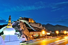 Sacred Potala Palace In Lhasa - Night View