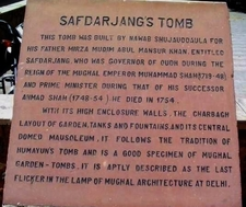 Safdarjungtomb Notice