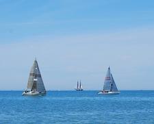 Sailboats - Presque Isle Bay View - Lake Erie PA
