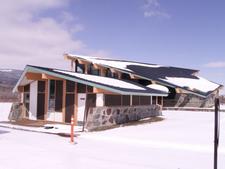 Saint Mary Visitor Center, Entrance And Checking Stations At Glacier - USA