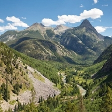 San Juan Mountains With Animas River CO