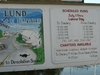 Savary Island Water Taxi Sign