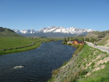 Sawtooth Mountains And Salmon River
