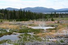 Scenic Heart Lake Geyser - Yellowstone - USA