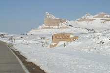 Scotts Bluff During Winter