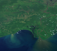 Sediment Plumes At The Mouth Of The Sepik