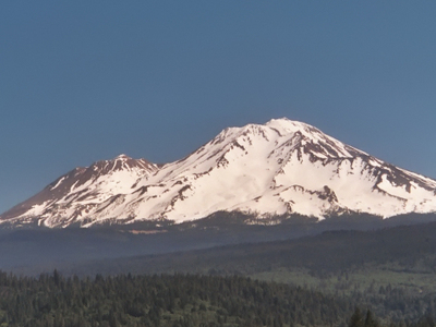 Mount Shasta As Viewed From Dunsmuir