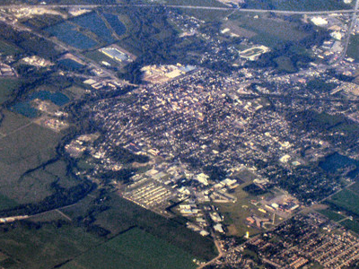 Shelbyville From The Air.