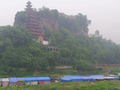 Shibaozhai Leaning Red Pavilion And Temple