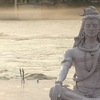 A Statue Of Shiva Meditating At Parmarth Niketan On The Ganges