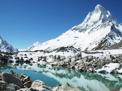 Shivling Peak & Lake In Uttarakhand