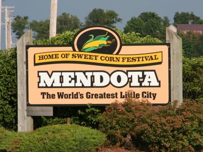 Sign Leading Into Mendota.