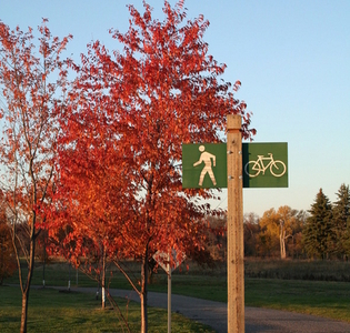 Sign Near The Olson-Elmwood Access In Grand Forks