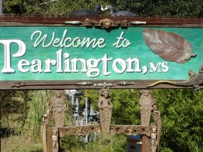Sign Welcoming Visitors To Pearlington
