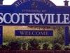 Sign Welcoming Visitors To Scottsville