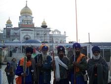 Sikh Devotees At Gurdwara Bangla Sahib