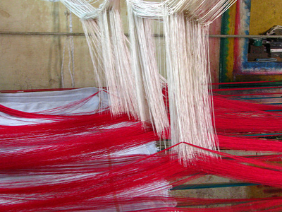 Silk Sari Weaving At Kanchipuram