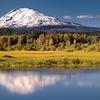Trout Lake Reflecting Mount Adams