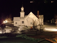 Skjervoey Norwegen Kirche