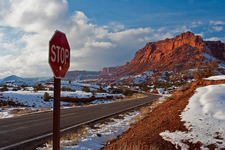 Snow At Capitol Reef NP
