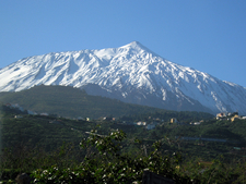 Snow Capped Teide From The North