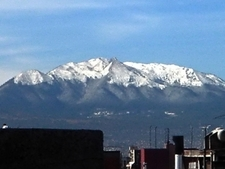 Snow Covered Ajusco Volcano